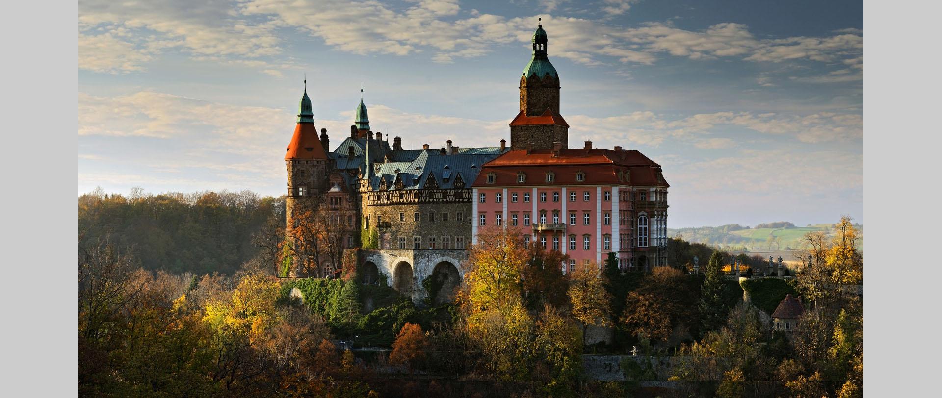 Panorama zamku Książ w Wałbrzychu